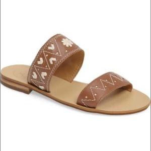 Jack Rogers Boho Brown Leather Sandals